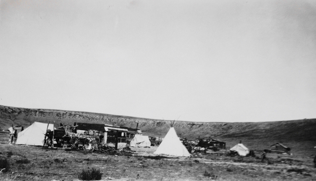 Little Shell Encampment at Hill 57, Great Falls, Montana, in 1934.