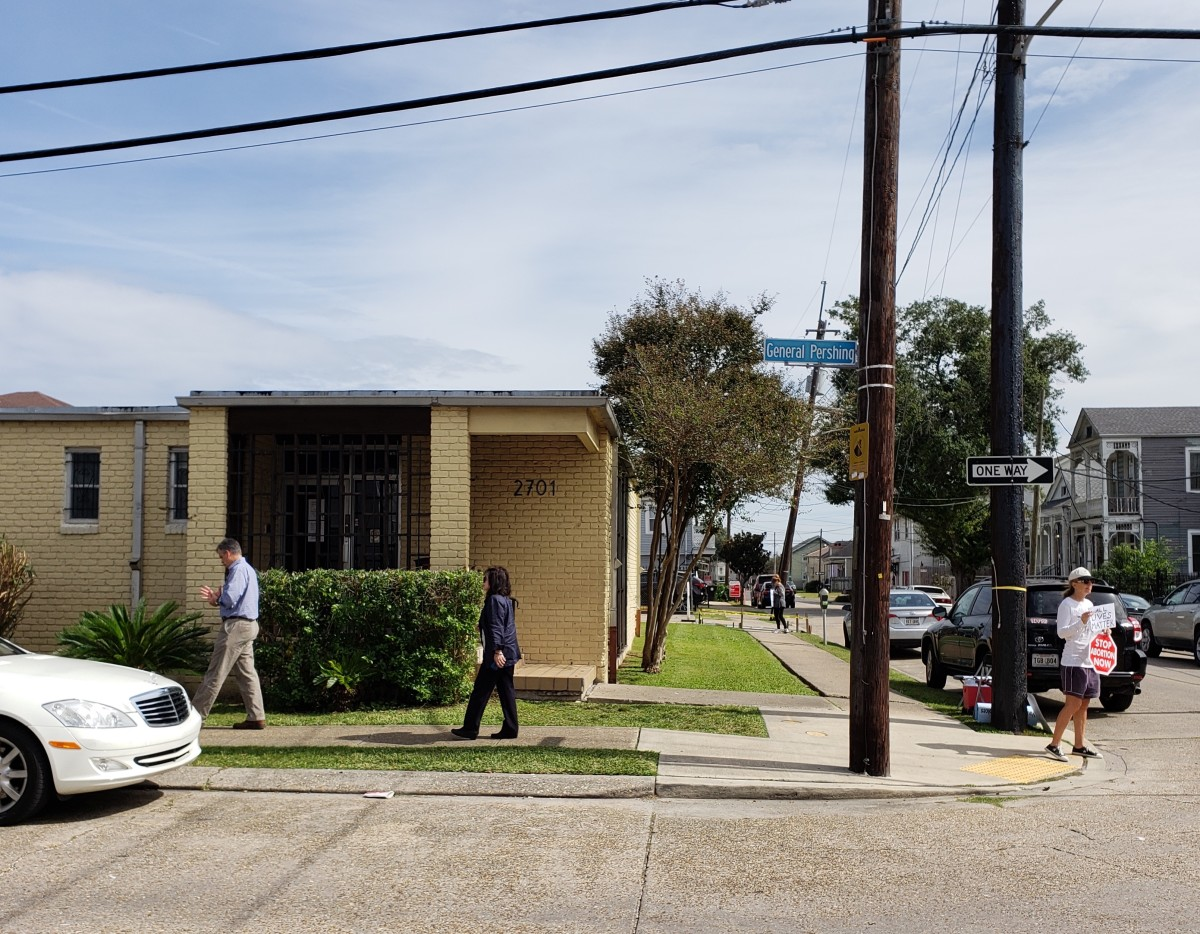 The New Orleans abortion clinic, pictured here in October of 2018, can still provide abortions, thanks to an emergency order from the Supreme Court of the United States issued on February 7th, 2019.