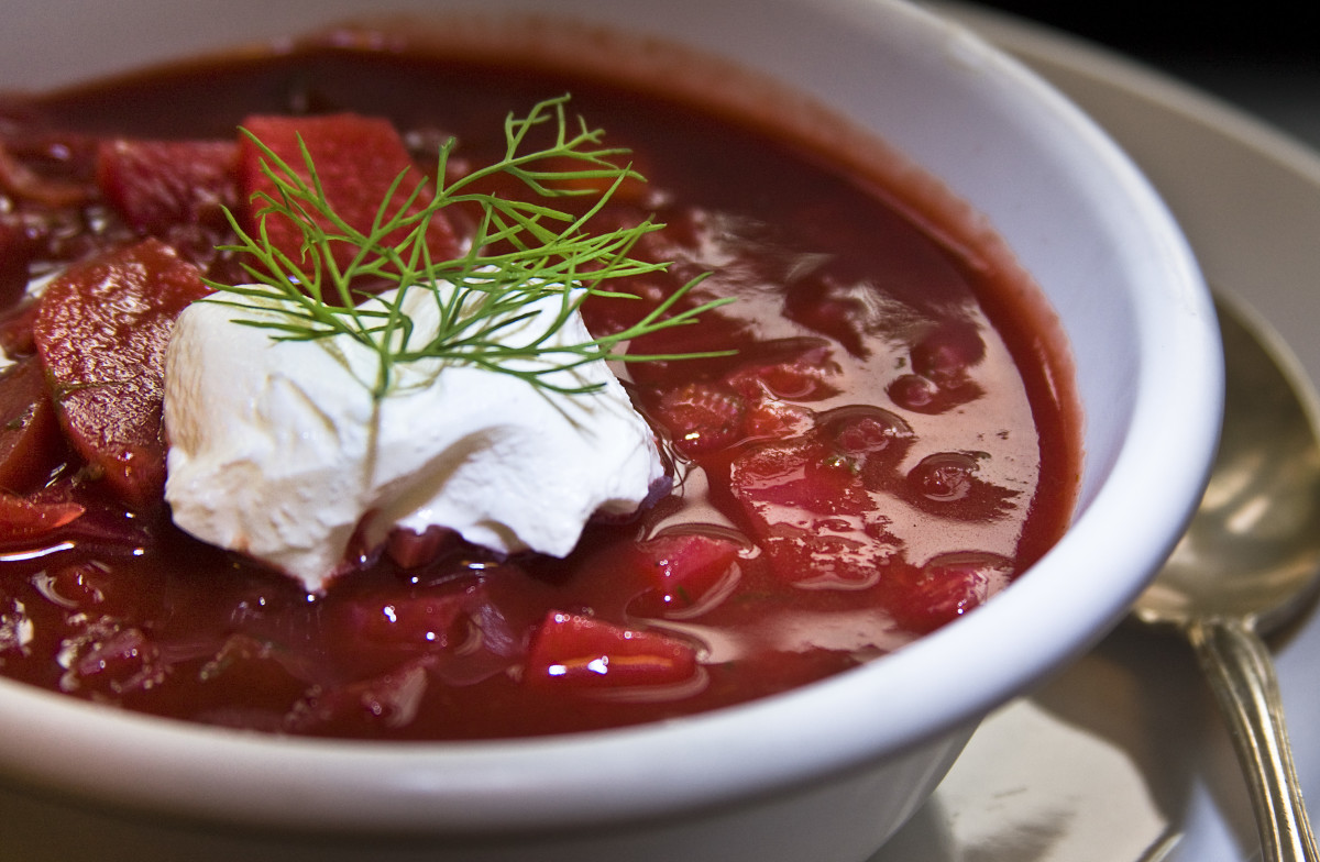 A bowl of non-Soviet borscht.