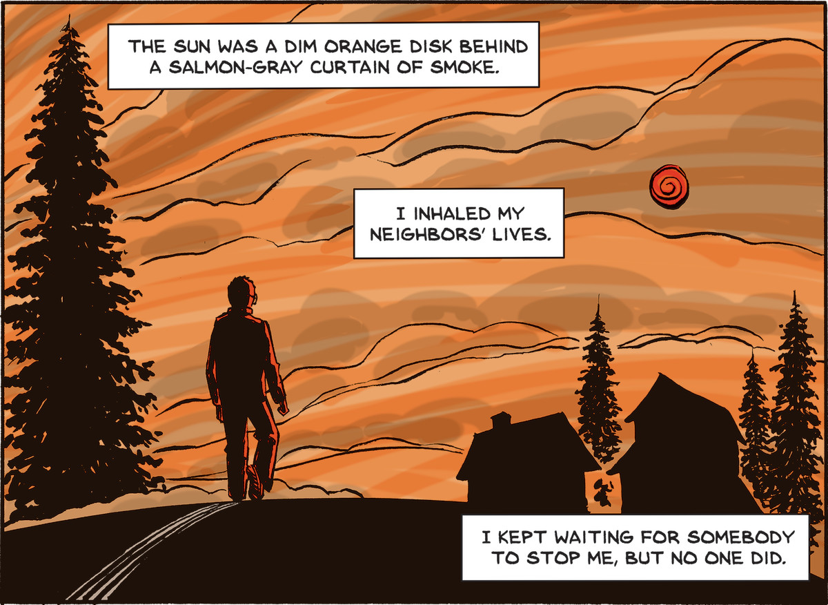 In A Fire Story, Brian Fies depicts returning to his decimated neighborhood after the Tubbs Fire.