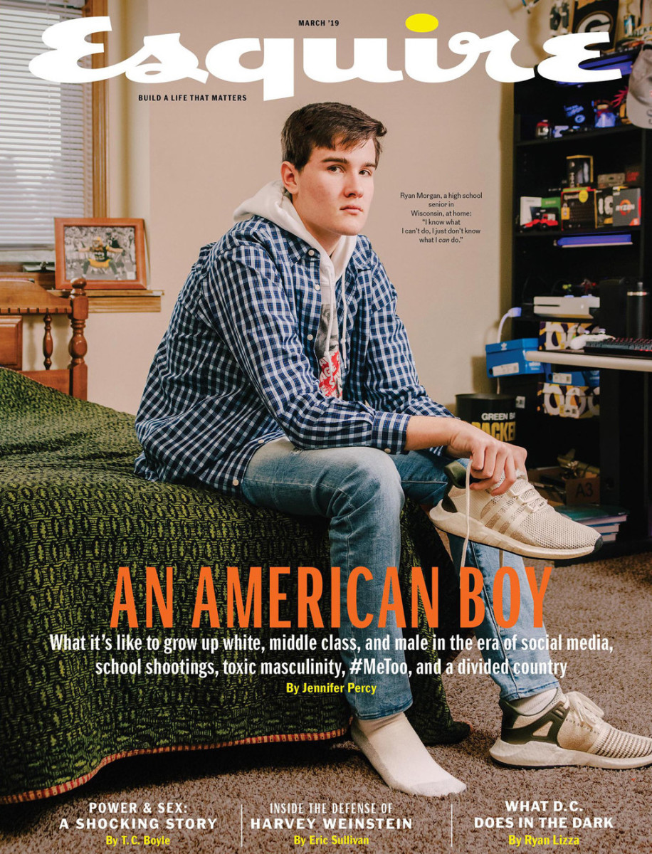 The March 2019 cover of Esquire.