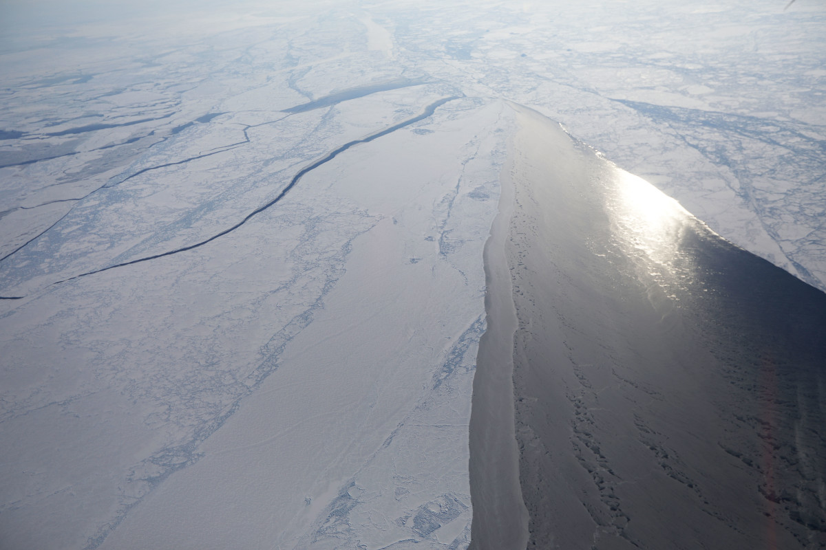 Sea ice seen from NASA's Operation IceBridge research aircraft off the northwest coast of Greenland on March 30th, 2017. Scientists say that the Arctic has been one of the regions hardest hit by climate change.