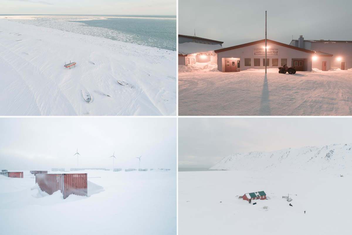 Gambell is closer to Siberia than to Alaska. Historically, the shoreline is sheathed in sea ice that forms throughout the winter and melts in the summer, but the sea ice never formed completely in the winter and spring of 2019, due to the warming climate.