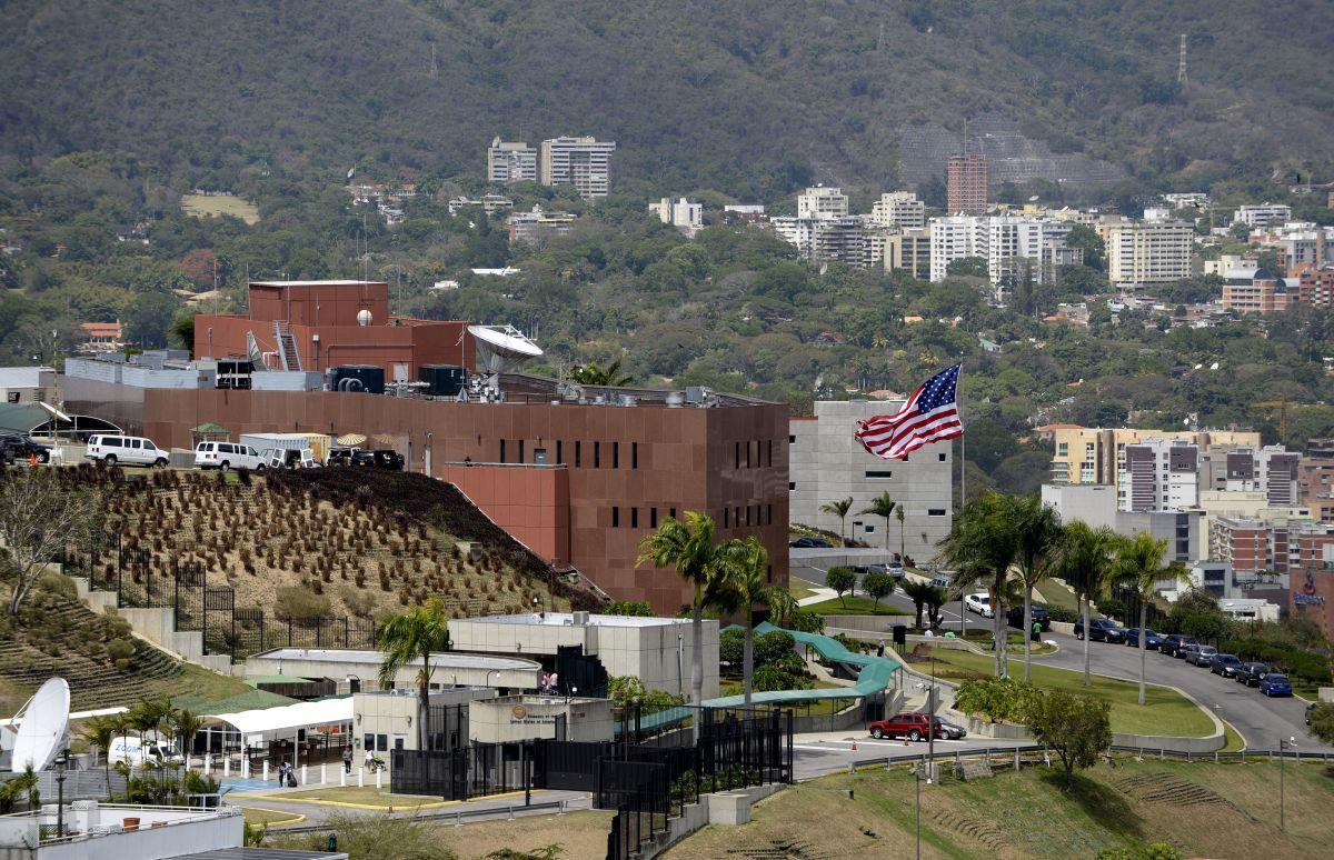 View of the U.S. Embassy in Caracas, Venezuela.