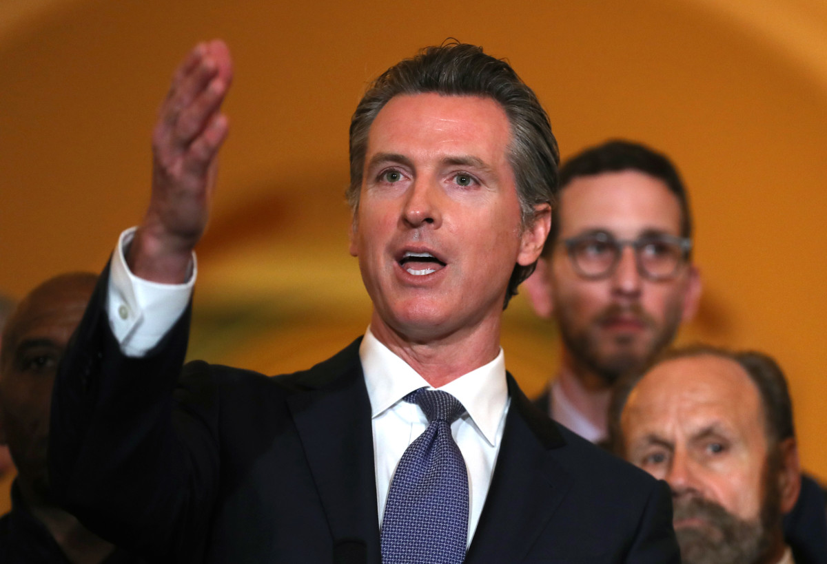 California Governor Gavin Newsom announced a moratorium on the state's death penalty during a news conference at the California State Capitol on March 13th, 2019, in Sacramento, California.