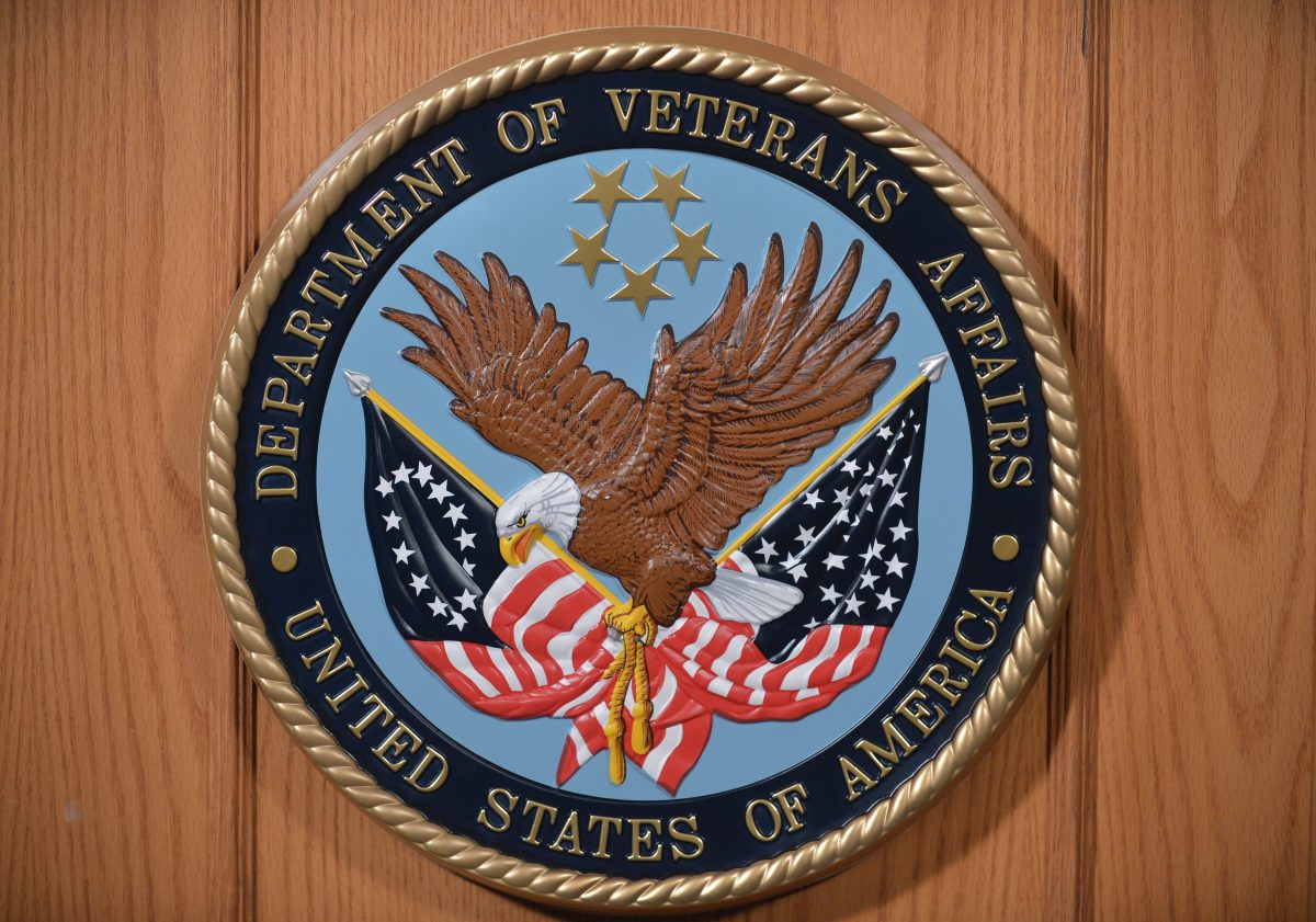 The seal of the Department of Veterans Affairs.