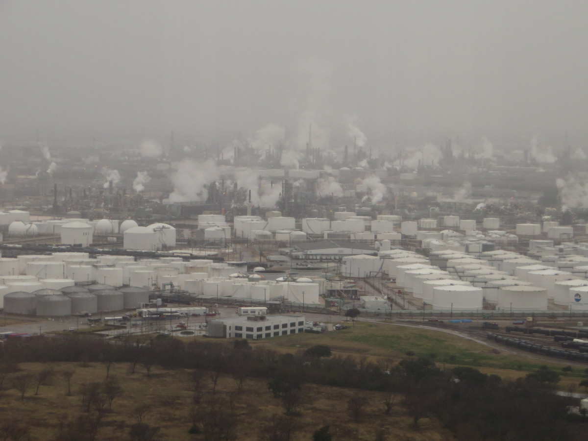Petroleum storage and refineries are seen in Deer Park, Texas, a city near Houston.