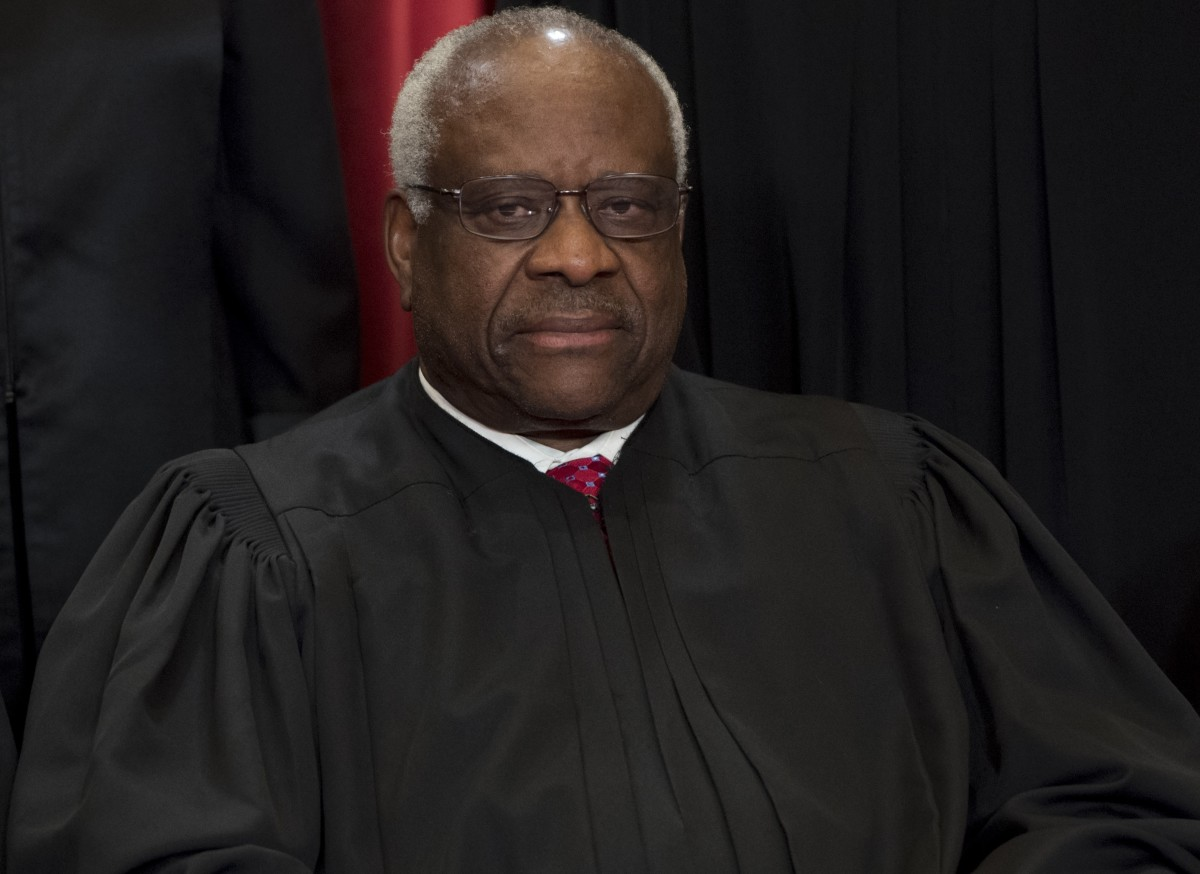 Supreme Court Associate Justice Clarence Thomas sits for an official photo in Washington, D.C., on June 1st, 2017.