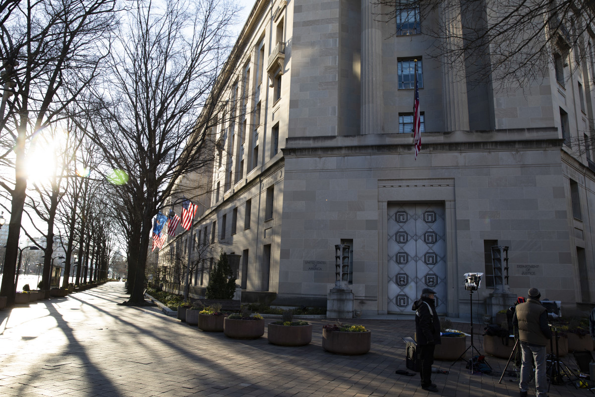The Department of Justice is seen on March 24th, 2019, in Washington, D.C.