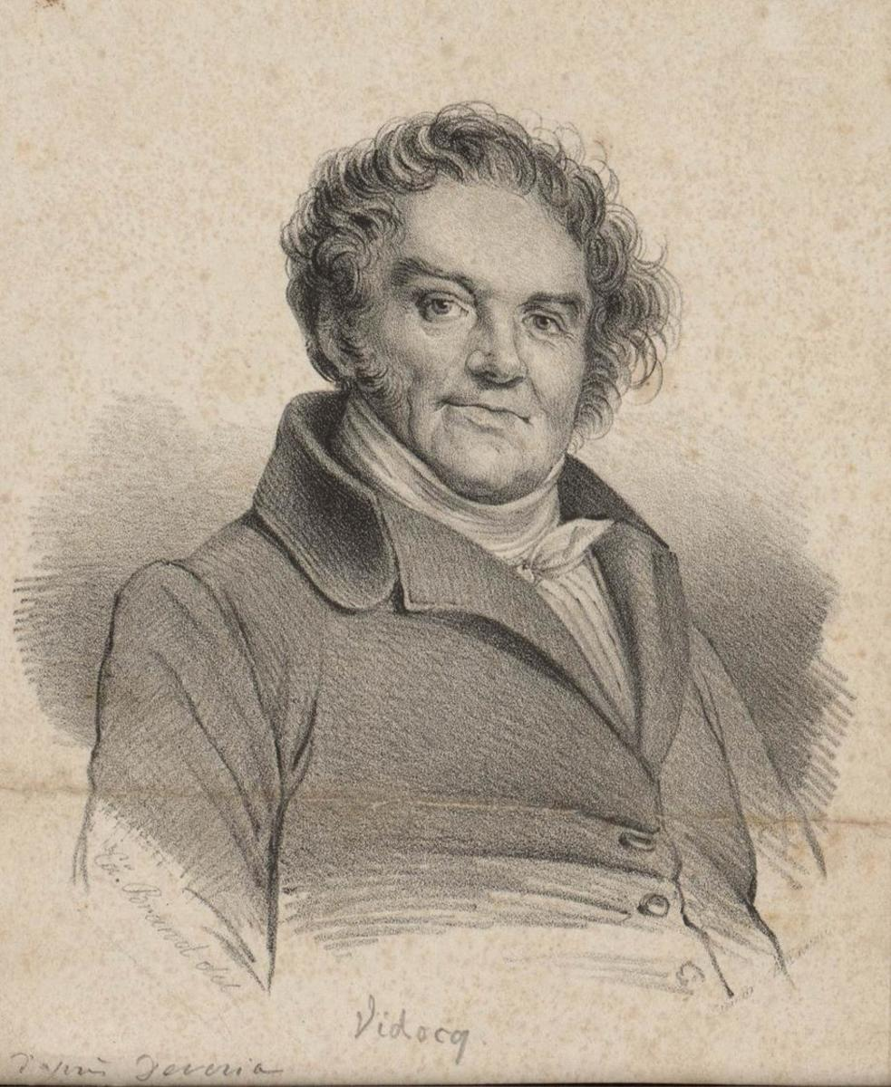 An anonymous portrait of Eugène François Vidocq in the style of Achille Devéria.