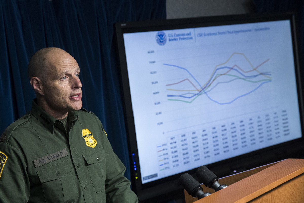 Ronald Vitiello speaks during a Department of Homeland Security press conference in 2018.