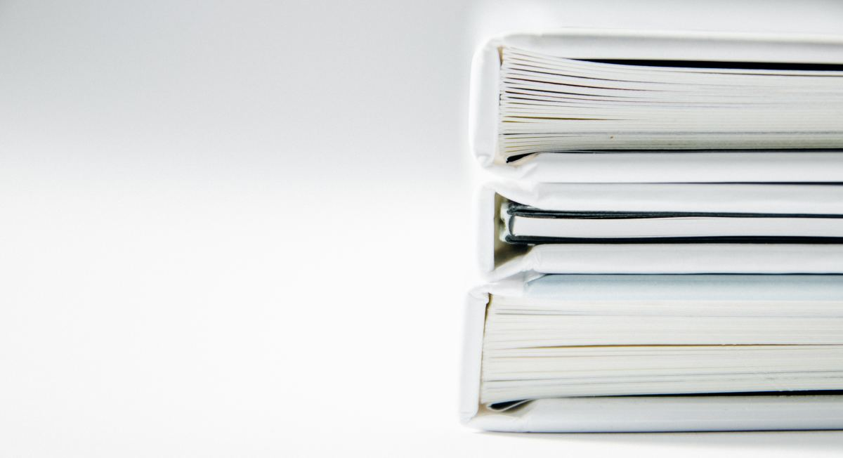White folders binders doctor medical records