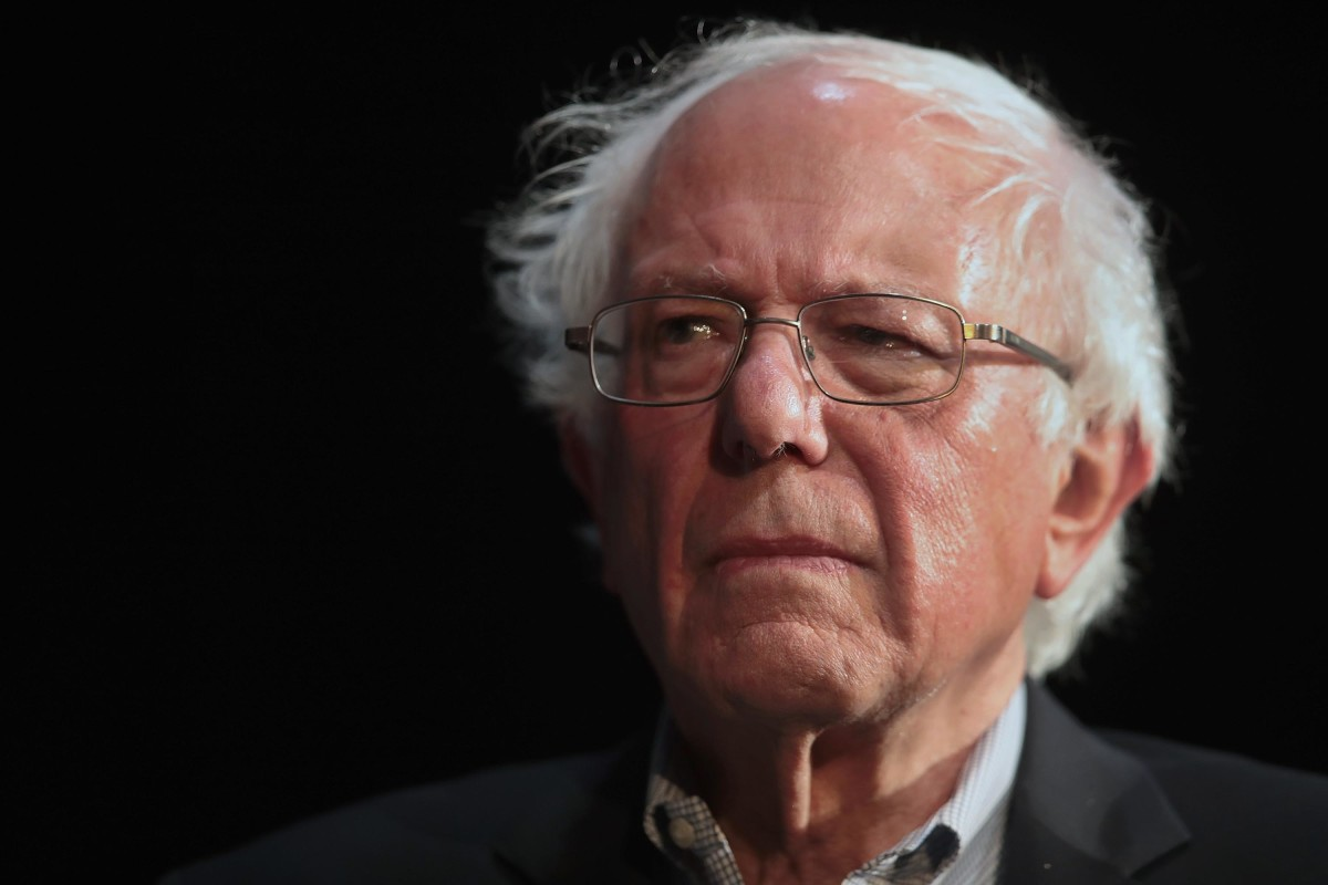 Senator Bernie Sanders (I-VT) at a campaign rally in Fairfield, Iowa, on April 6th, 2019.