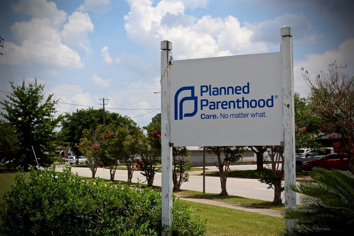 A Planned Parenthood sign in Mobile, Alabama.