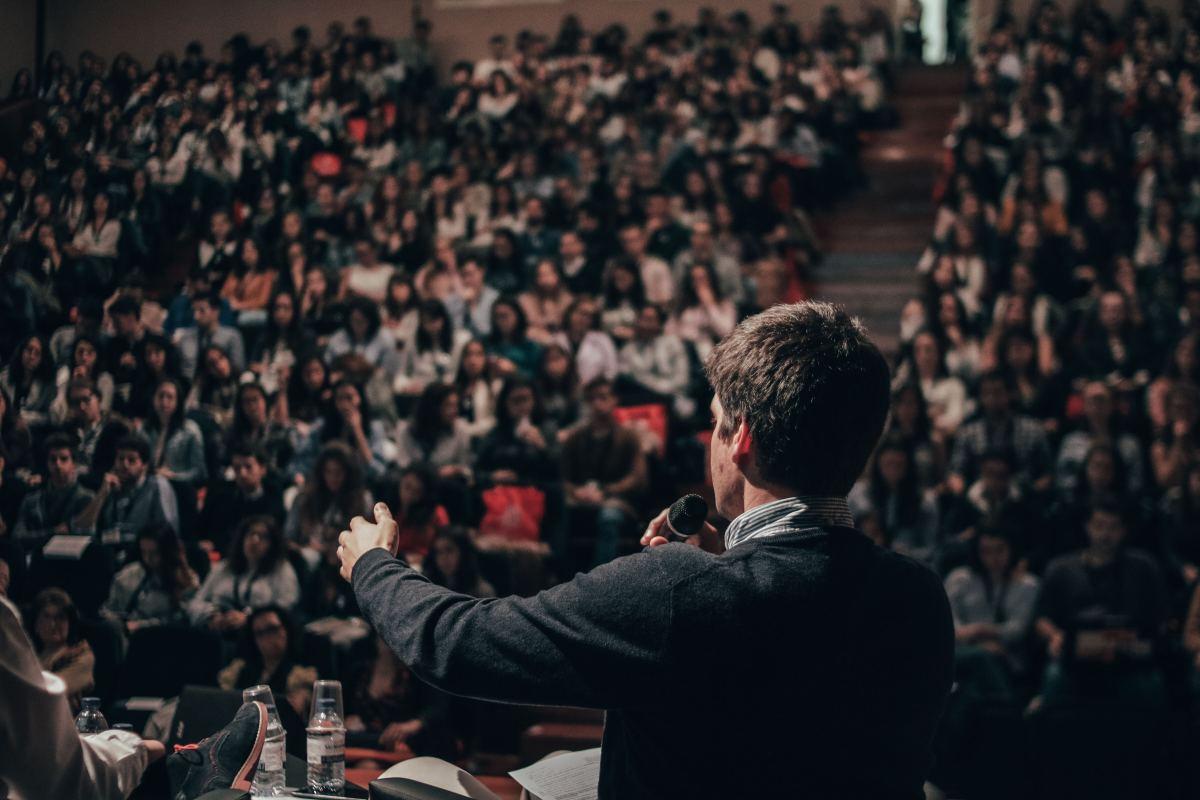Debate public speaking audience auditorium